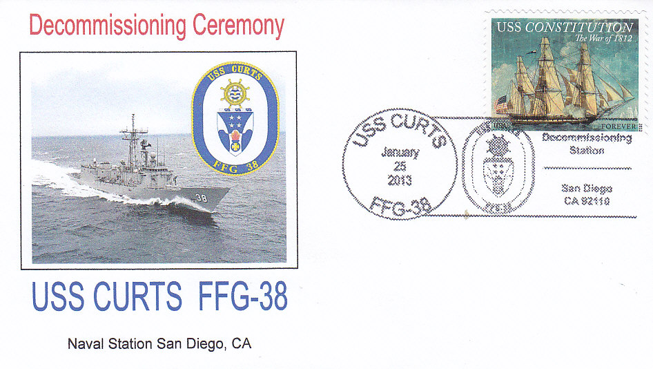 Beleg USS CURTS FFG-38 Decommissioning Ceremony