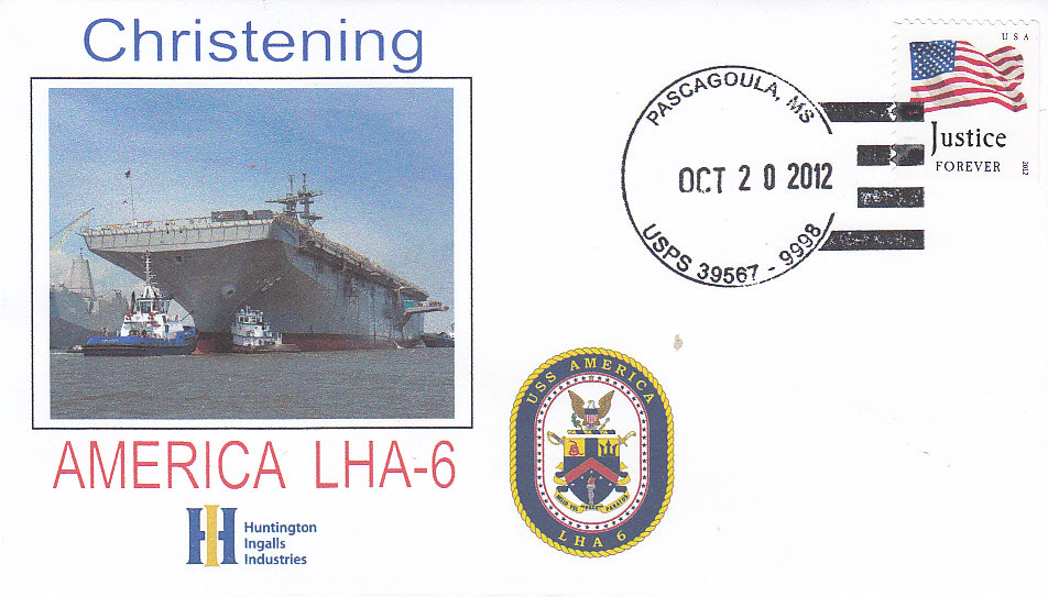 Beleg USS AMERICA LHA-6 Christening