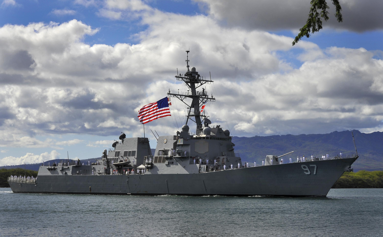 USS HALSEY DDG-97 Einlaufen Pearl Harbor am 14.02.2013Bild: U.S. Navy
