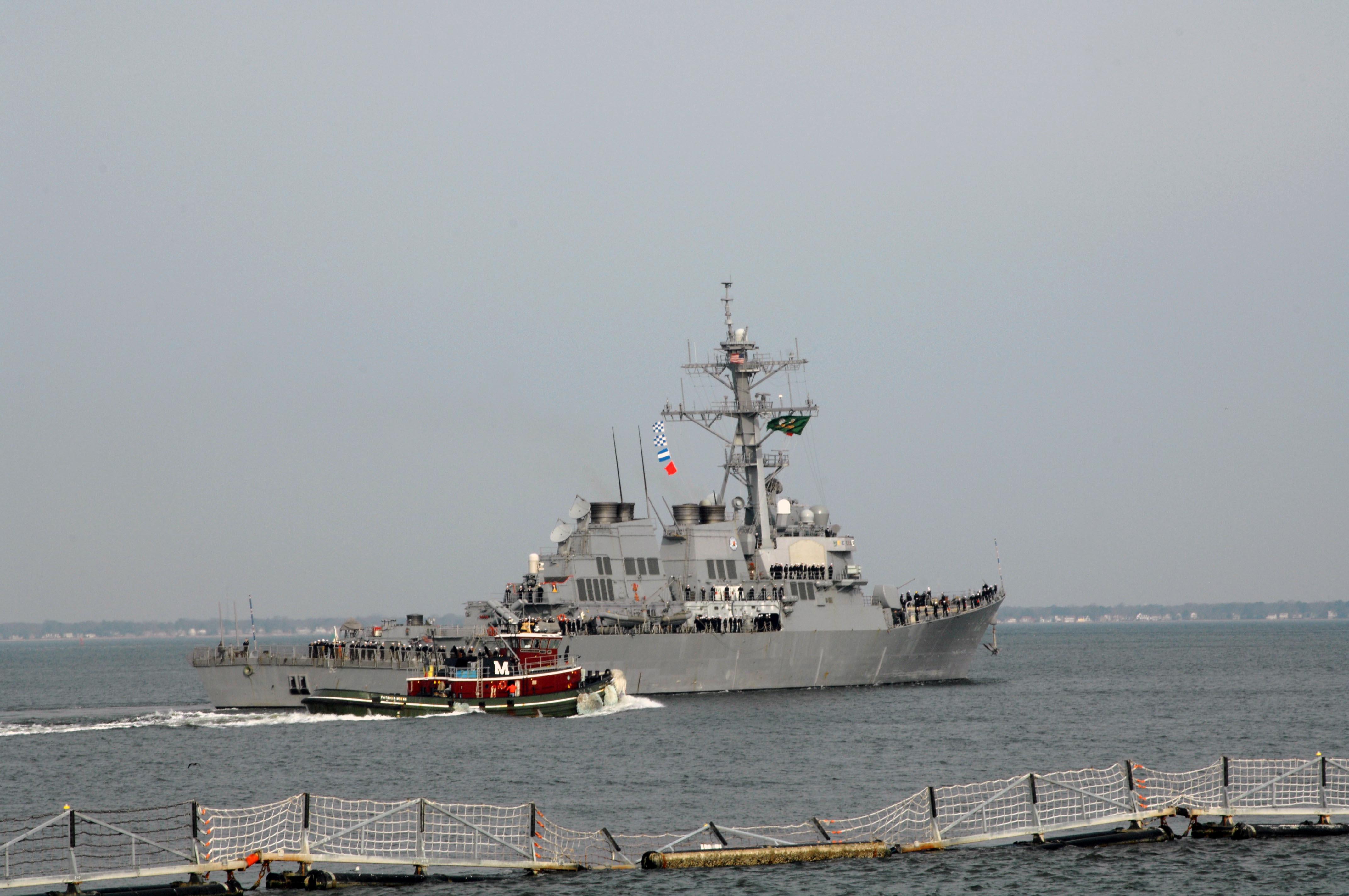 USS BARRY DDG-52 Auslaufen Norfolk 07.02.2013Bild: U.S. Navy