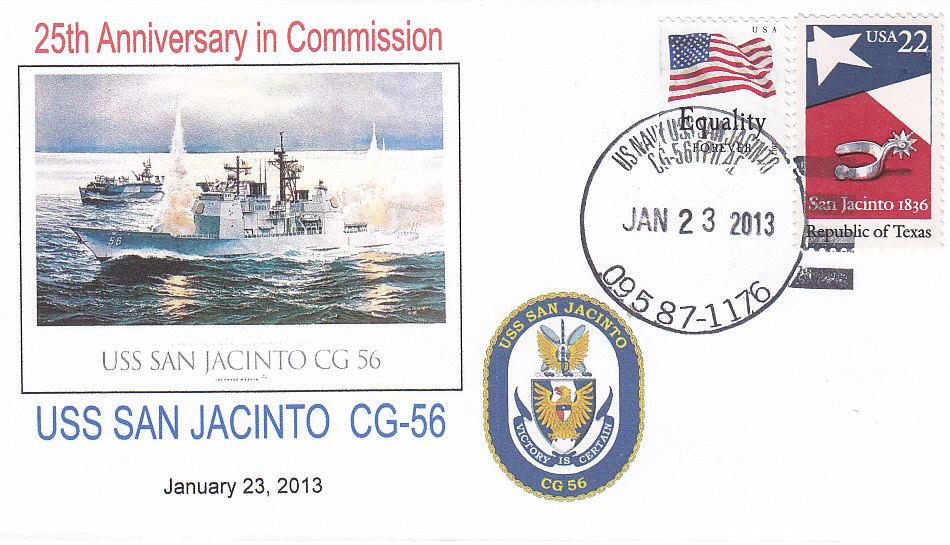 Beleg USS SAN JACINTO CG-56 25 Jahre im Dienst