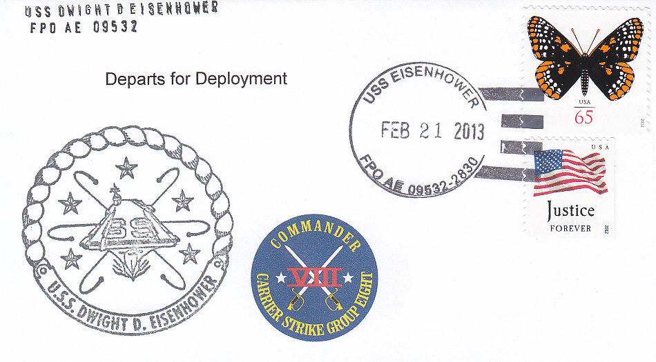Beleg USS DWIGHT D. EISENHOWER CVN-69
