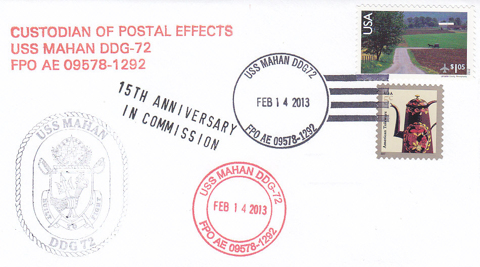 Beleg USS MAHAN DDG-72 15 Jahre im Dienst