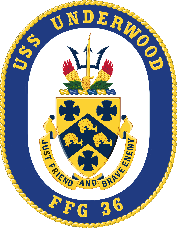 USS UNDERWOOD FFG-36 CrestGrafik: U.S. Navy