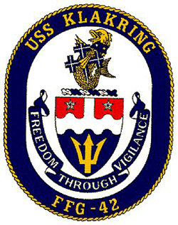 USS KLAKRING FFG-42 CrestGrafik: U.S. Navy