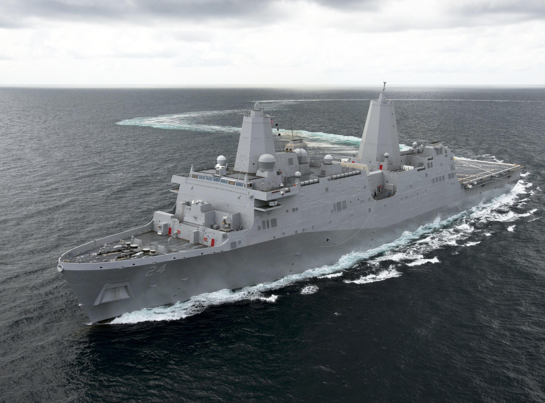 USS ARLINGTON LPD-24 See-ErprobungBild: Ingalls Shipbuilding
