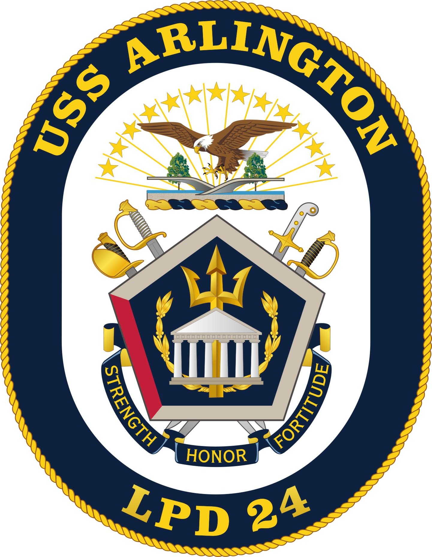 USS ARLINGTON LPD-24 CrestGrafik: U.S. Navy