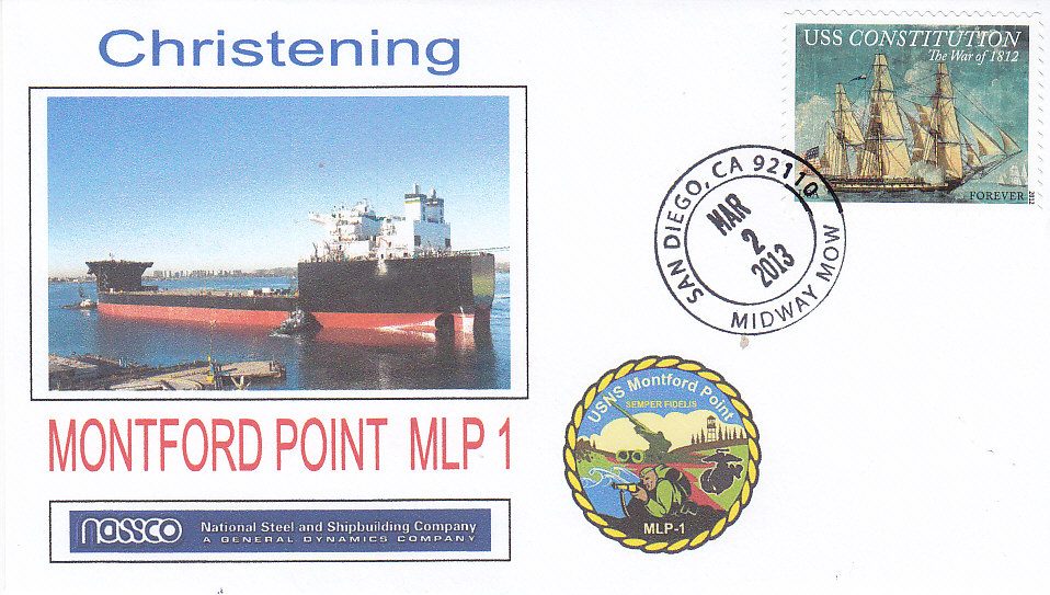 Beleg USNS MONTFORD POINT MLP-1 Christening
