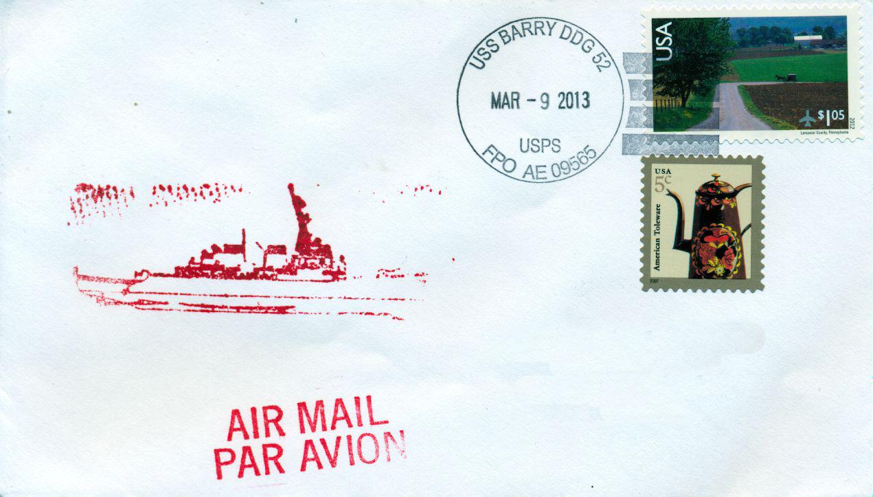 Beleg USS BARRY DDG-52von Karl Friedrich Weyland