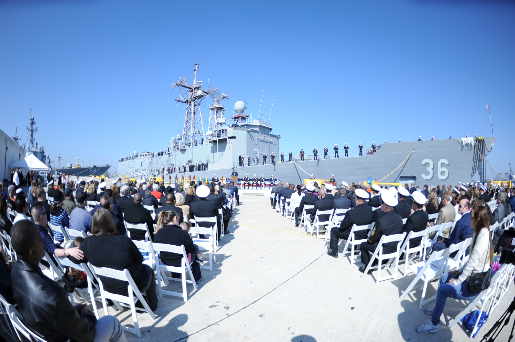 USS UNDERWOOD FFG-36 Decommissioning Ceremony 08.03.2013Bild: U.S. Navy