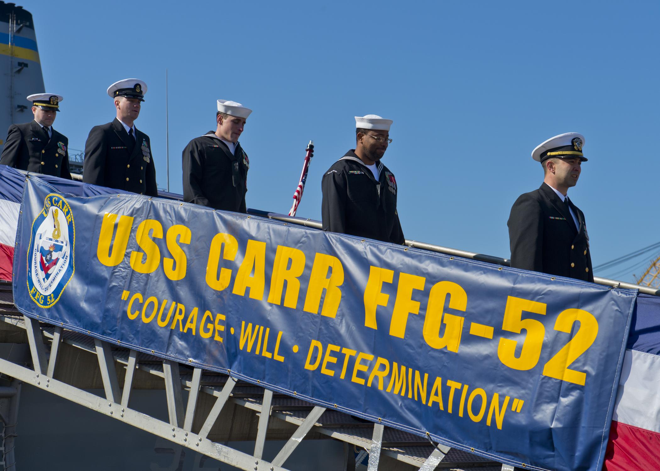USS CARR FFG-52 Decomissioning Ceremony 13.03.2013Bild: U.S. Navy