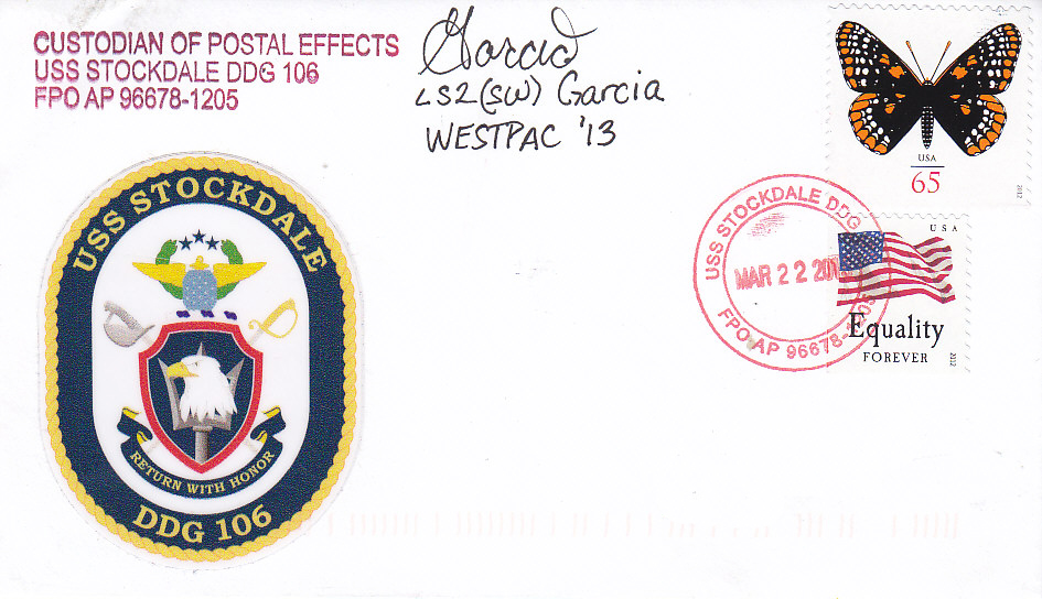 Beleg USS STOCKDALE DDG-106