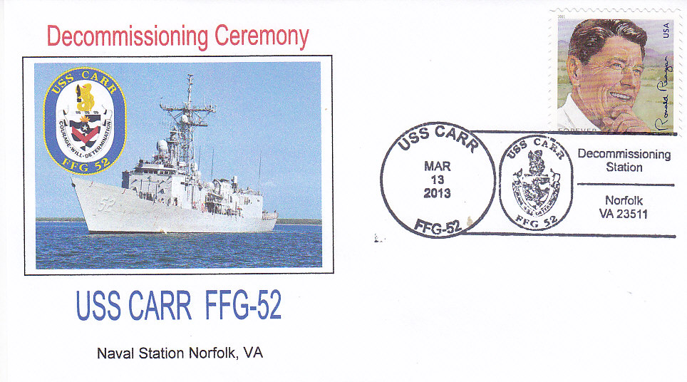 Beleg USS CARR FFG-52 Decommissioning