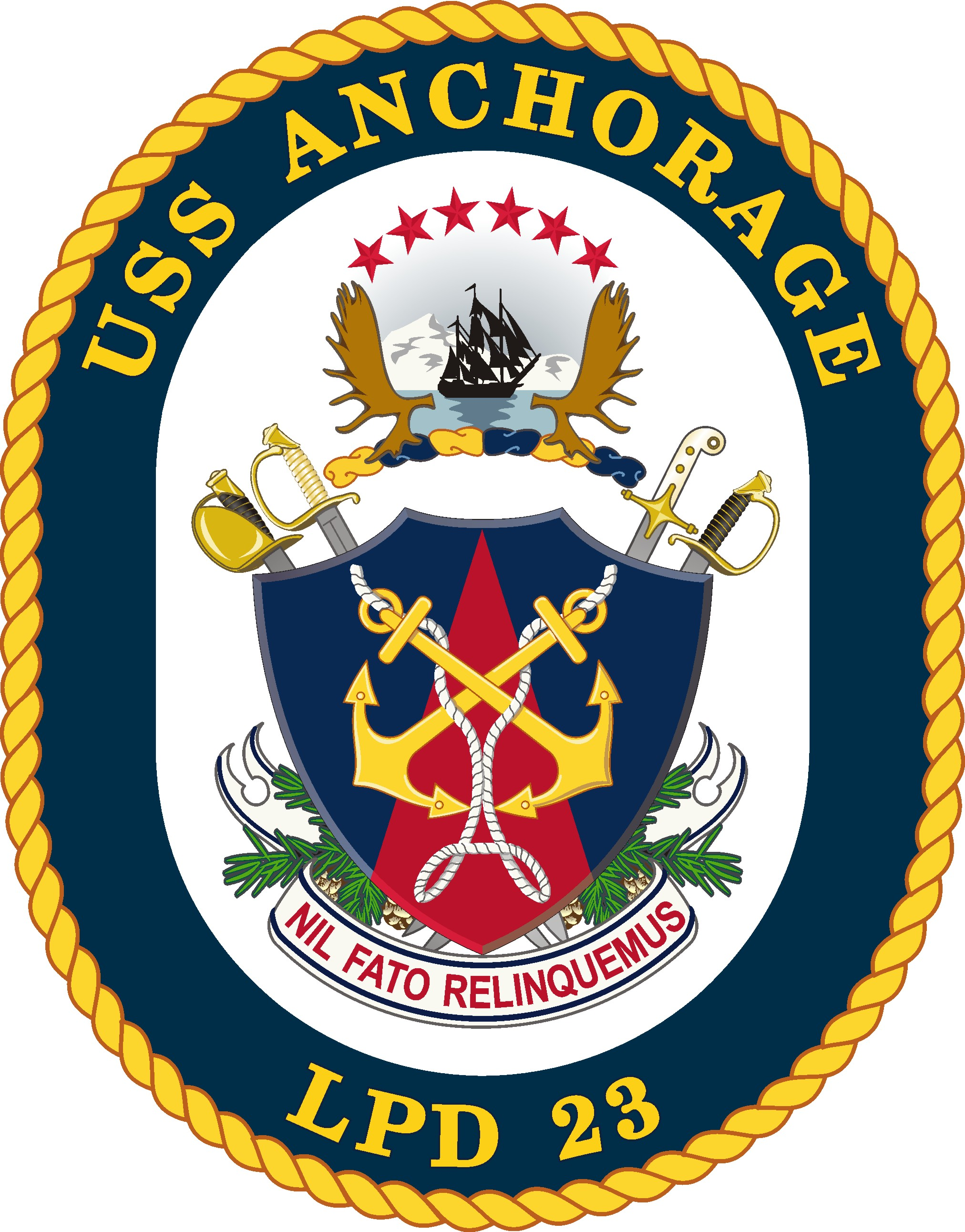 Abzeichen USS ANCHORAGE LPD-23Grafik: U.S. Navy