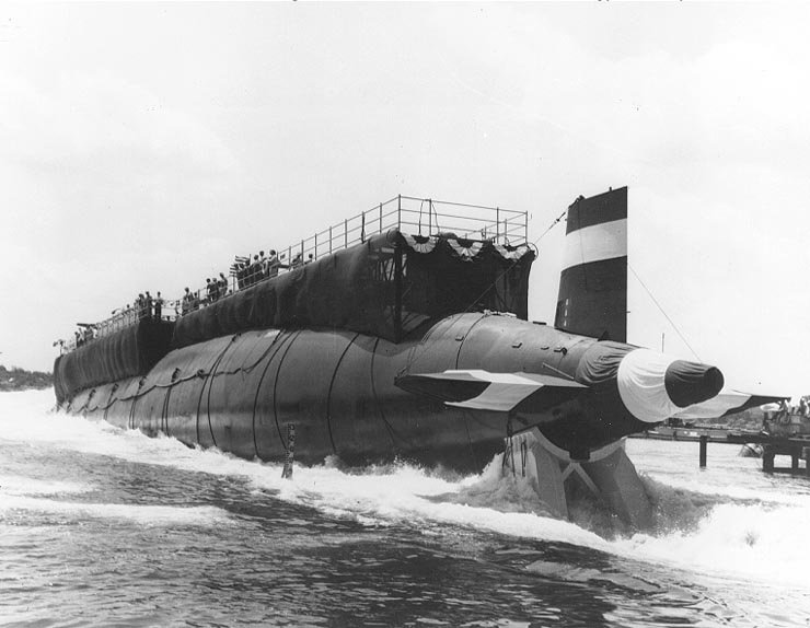 Stapellauf USS THRESHER SSN-593 09.07.1960Bild: U.S. Navy