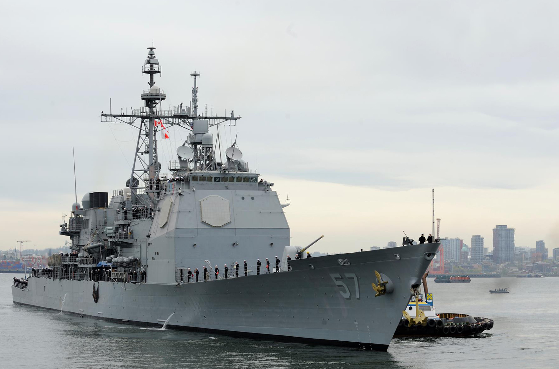 USS LAKE CHAMPLAIN CG-57 Vancouver, Kanada 26.04.2013Bild: U.S. Navy