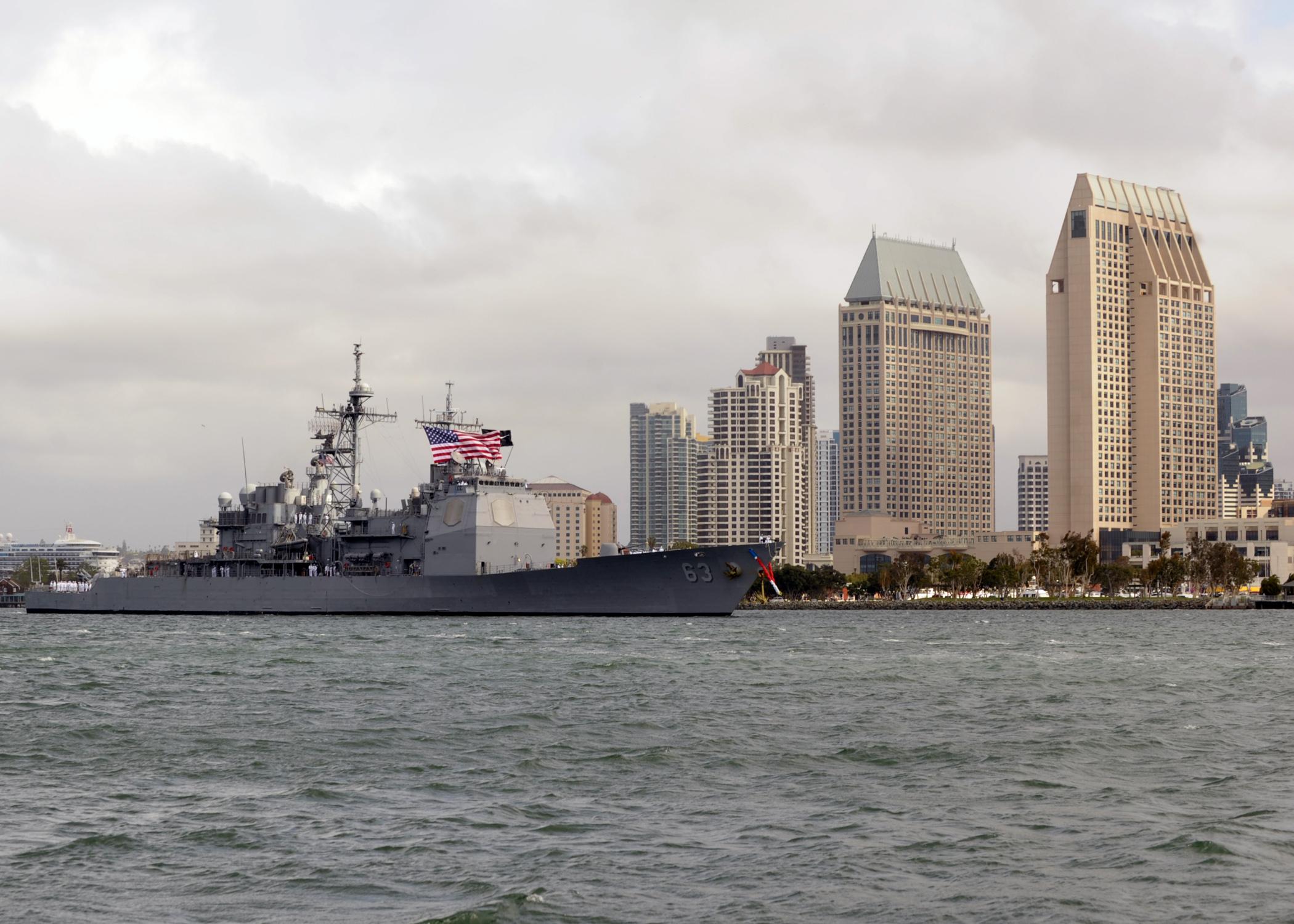 USS COWPENS CG-63 San Diego, CA 08.04.2013Bild: U.S. Navy
