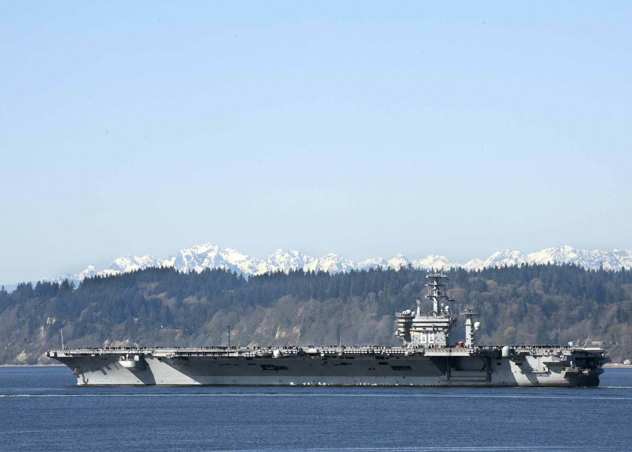 USS NIMITZ CVN-68 Auslaufen Everett 30.03.2013
