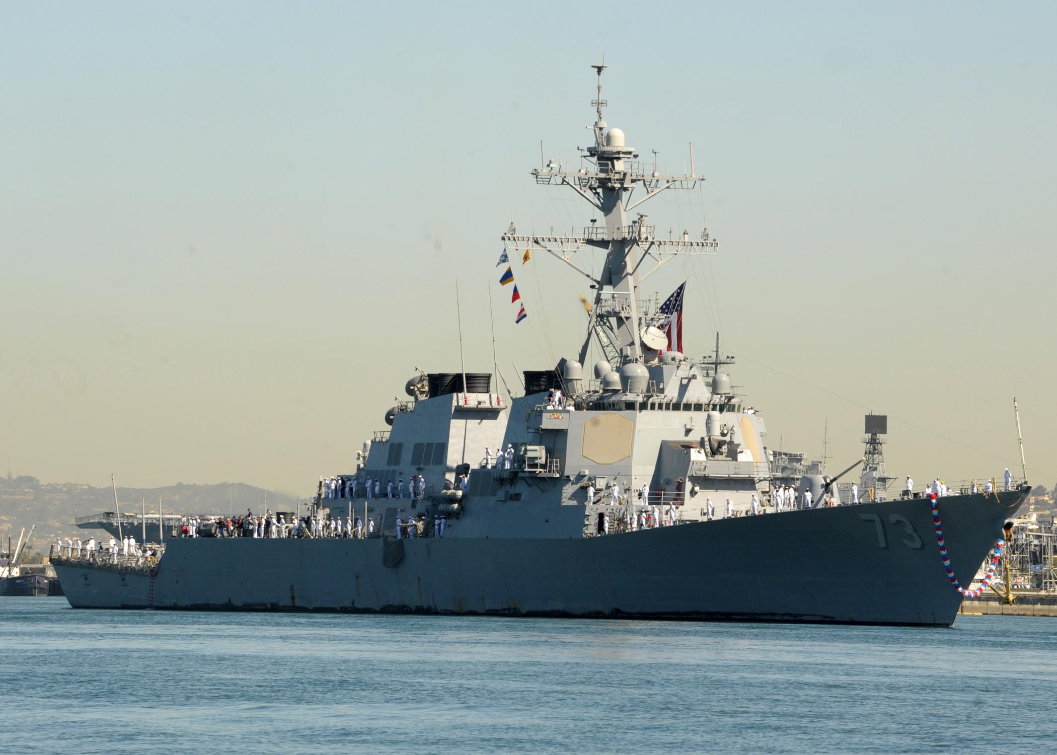 USS DECATUR DDG-73 Einlaufen San Diego 19.04.2013Bild: U.S. Navy