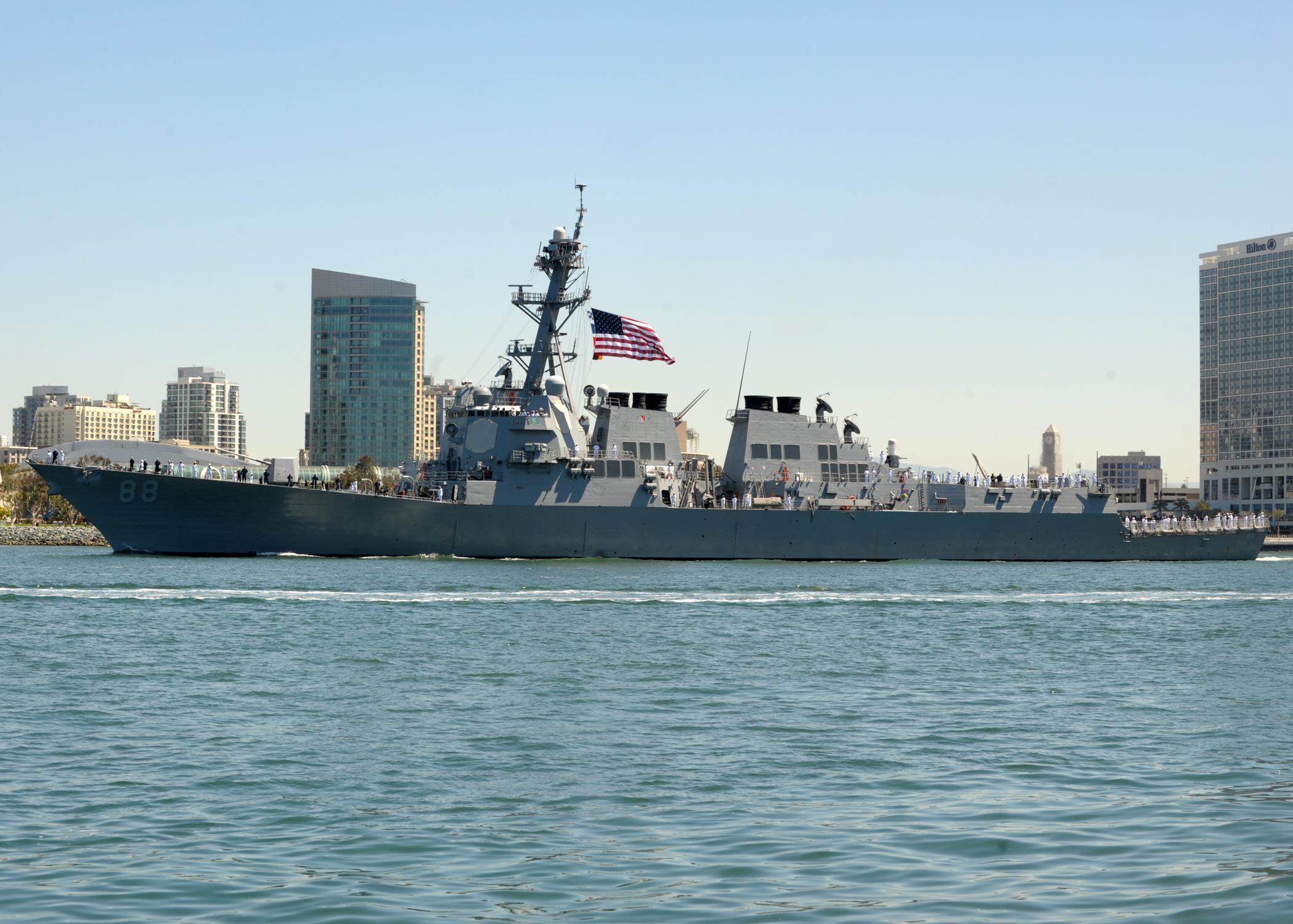 USS PREBLE DDG-88 Auslaufen San Diego 19.04.2013