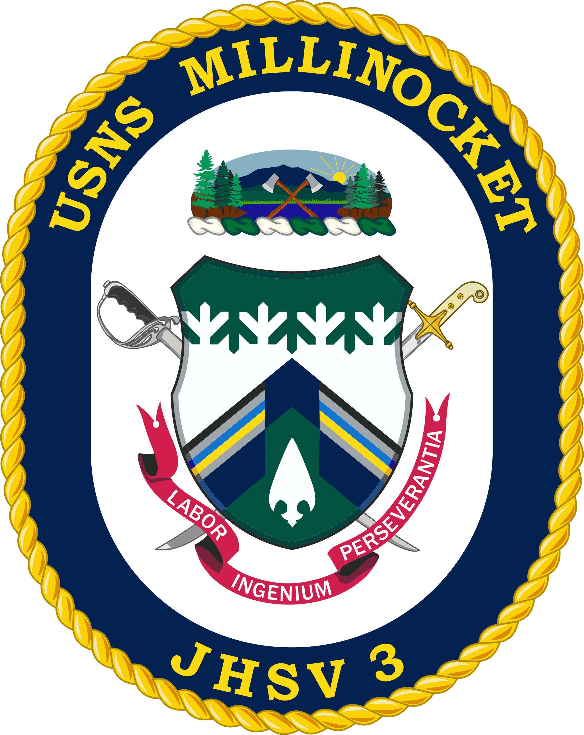 Abzeichen USNS MILLINOCKET JHSV-3Grafik: U.S. Navy