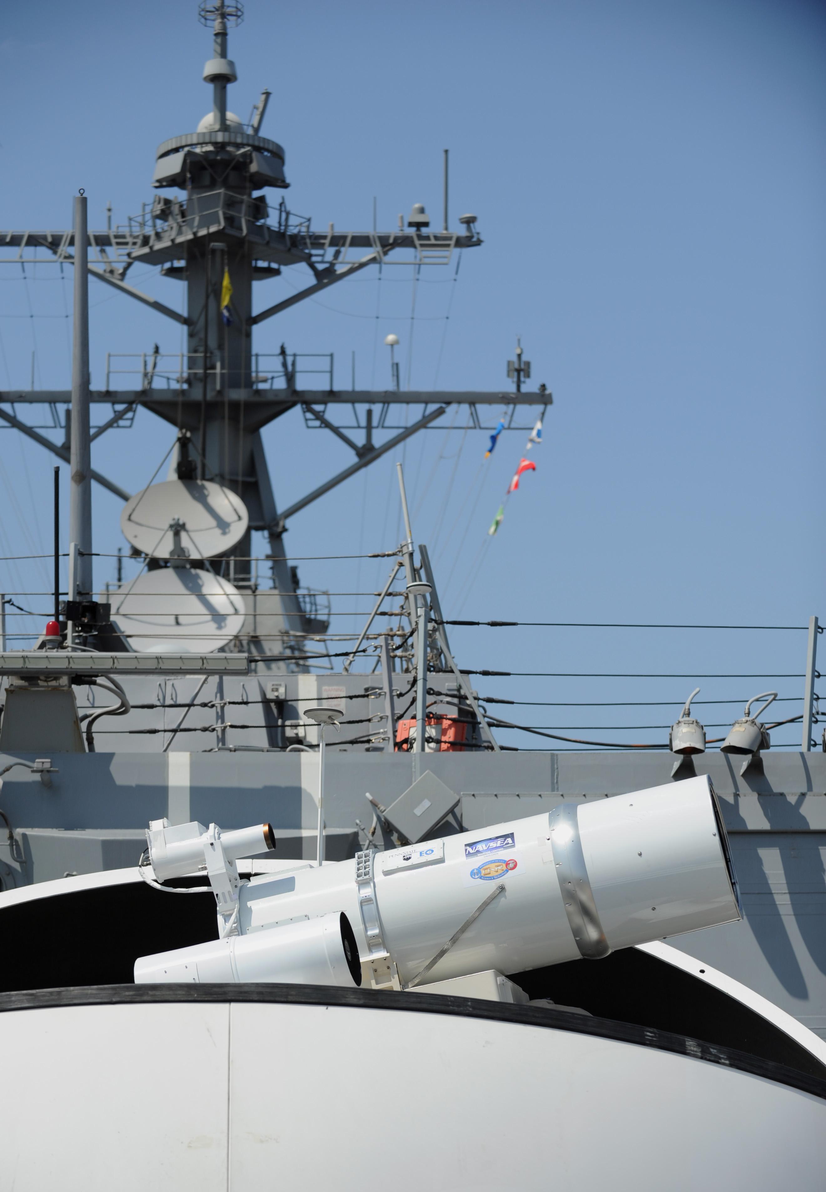 Laser-Kanone an Bord USS DEWEY DDG-105Bild: U.S. Navy