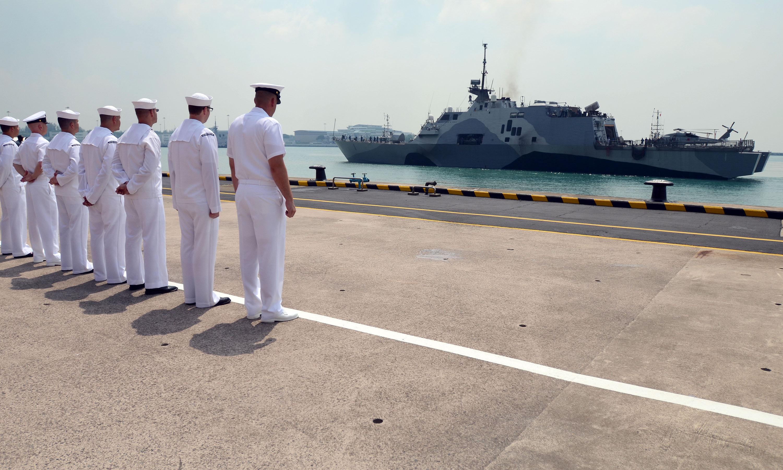 USS FREEDOM LCS-1 Singapur 18.04.2013Bild: U.S. Navy