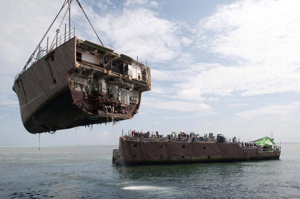 Abbruch USS GUARDIAN MCM-5Bld: U..Navy
