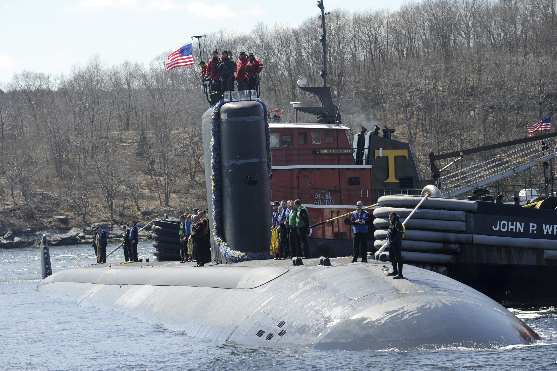 USS ALEXANDRIA SSN-757 Einlaufen Groton 03.04.2013