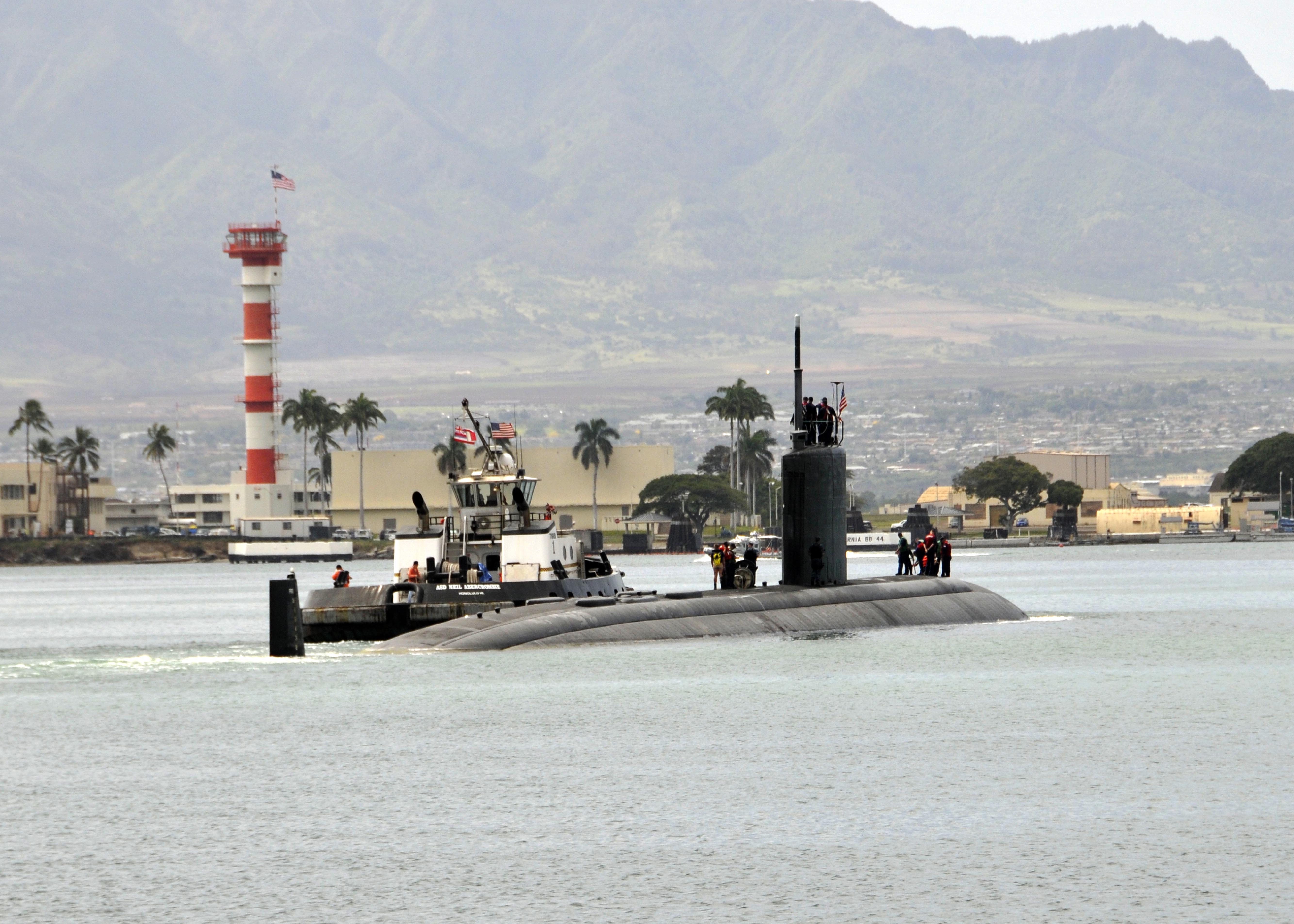 USS CHARLOTTE SSN-766 Auslaufen Pearl Harbor 02.04.2013Bild: U.S. Navy
