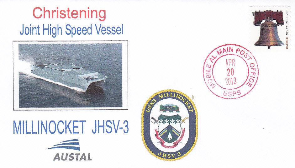 Beleg USNS MILLINOCKET JHSV-3 Christening
