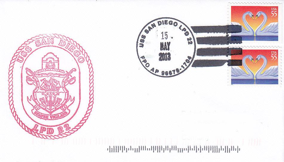 Beleg USS SAN DIEGO LPD-22