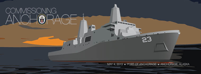 Commissioning USS ANCHORAGE LPD-23Garfik: USS ANCHORAGE Facebook Seite