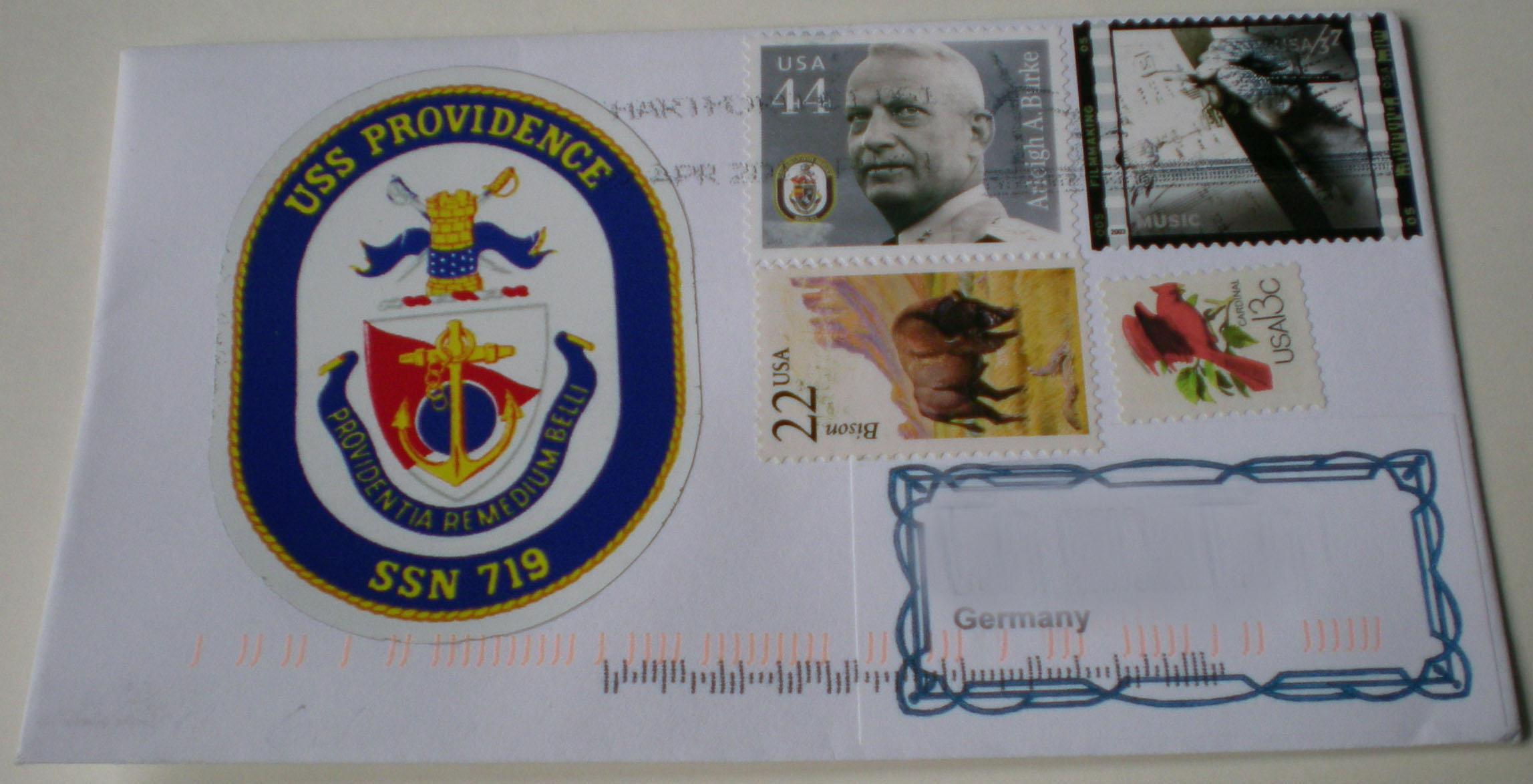 Beleg USS PROVIDENCE SSN-719von Heinz Grasse