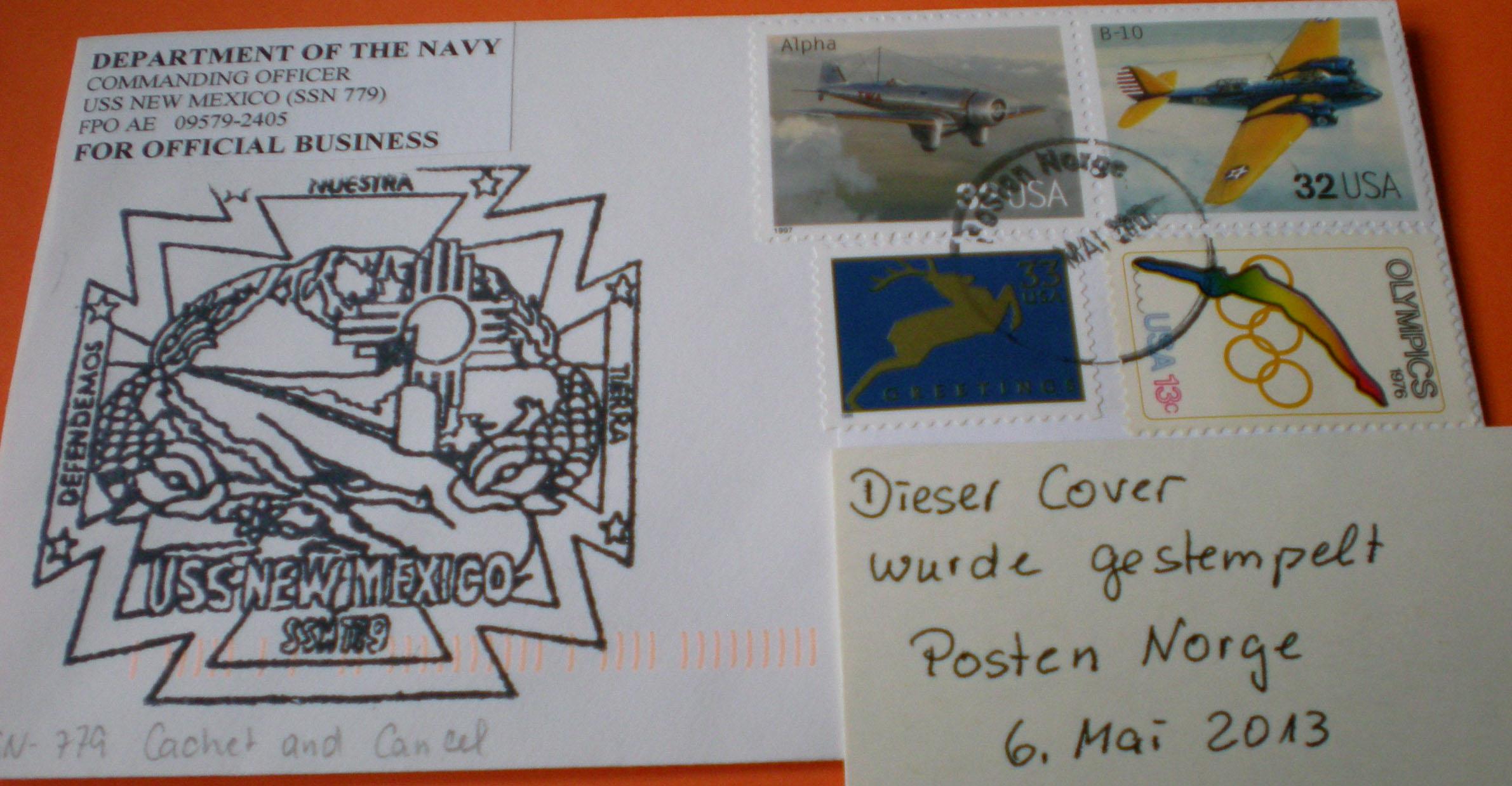 Beleg USS NEW MEXICO SSN-779von Heinz Grasse