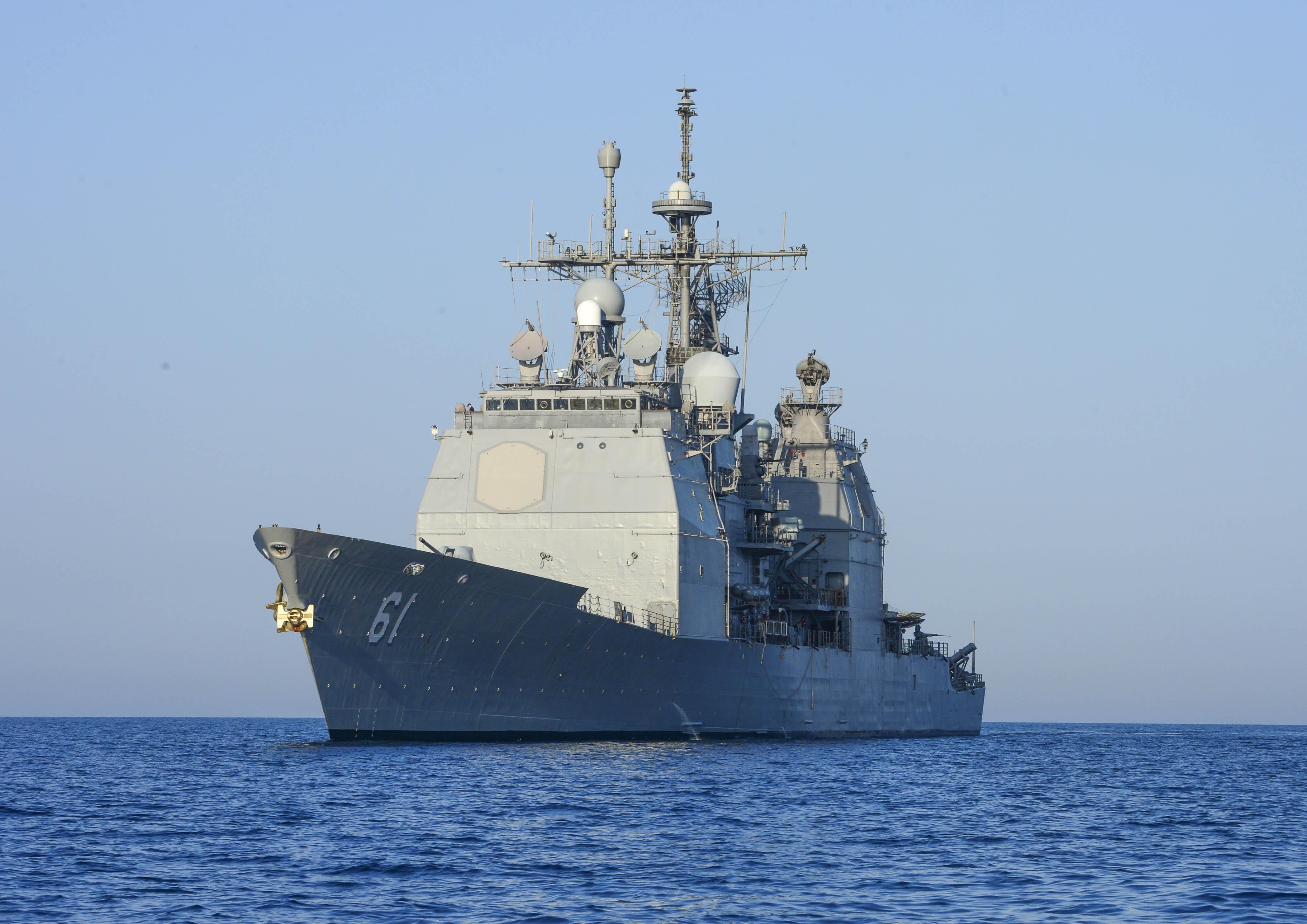USS MONTEREY CG-61 Porto Palerma, Albanien 28.04.2013Bild: U.S. Navy