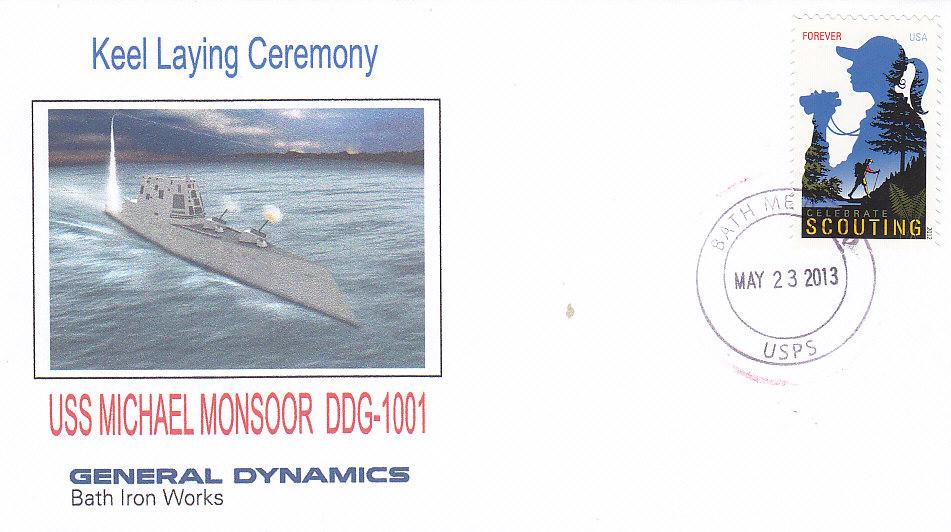 Beleg Kiellegung USS MICHAEL MONSOOR DDG-1001
