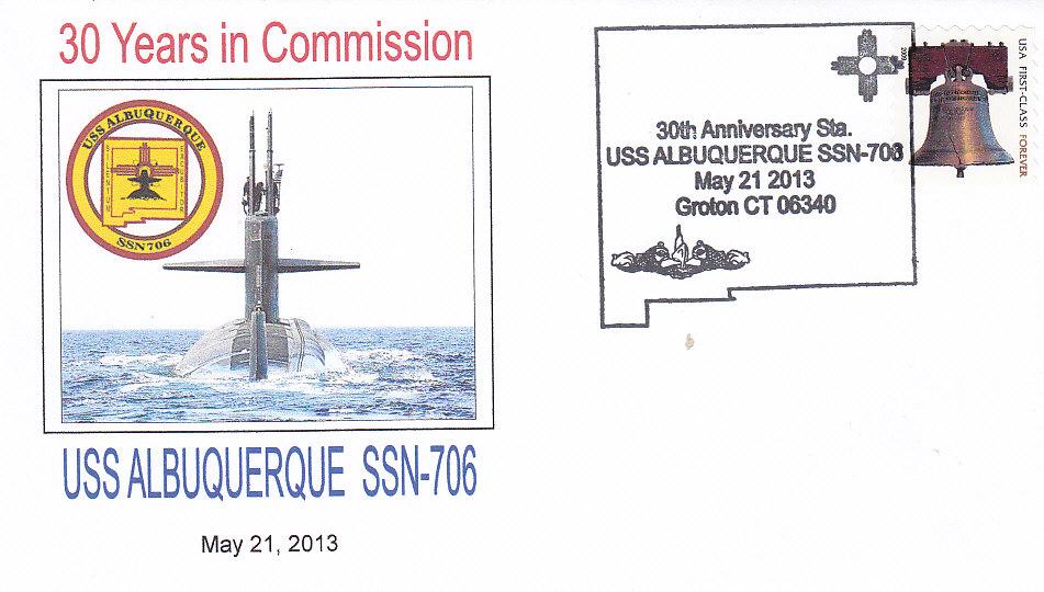 Beleg USS ALBUQUERQUE SSN-706 30 Jahre im Dienst