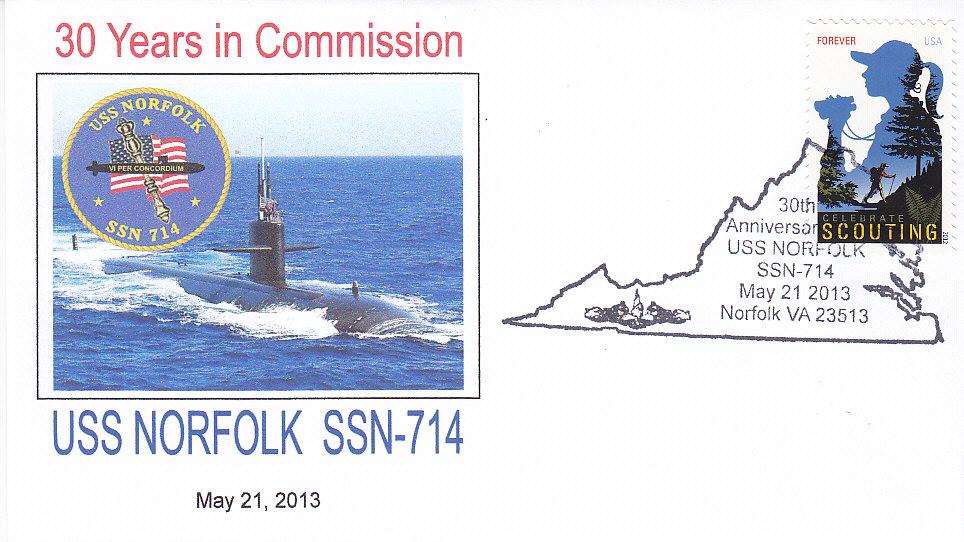 Beleg USS NORFOLK SSN-714 30 Jahre im Dienst
