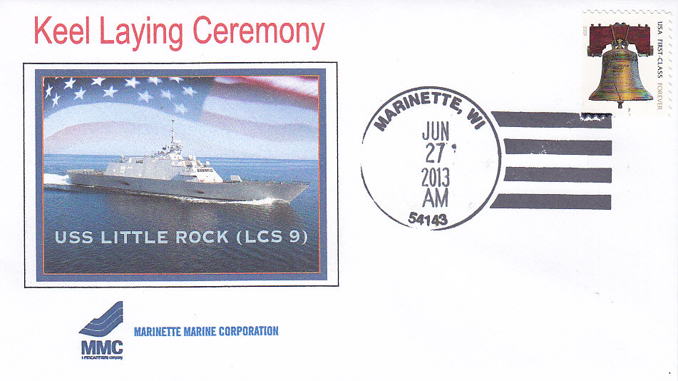 Beleg USS LITTLE ROCK LCS-9 Kiellegung