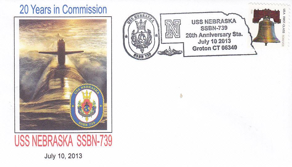 Beleg USS NEBRASKA SSBN-739 20 Jahre im Dienst Groton
