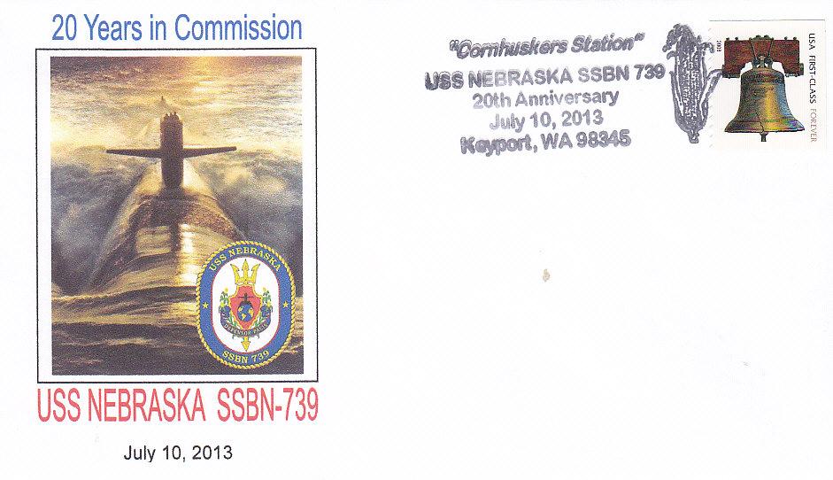 Beleg USS NEBRASKA SSBN-739 20 Jahre im Dienst Keyport