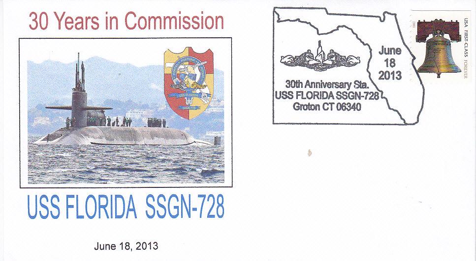 Beleg USS FLORIDA SSGN-728 30 Jahre im Dienst