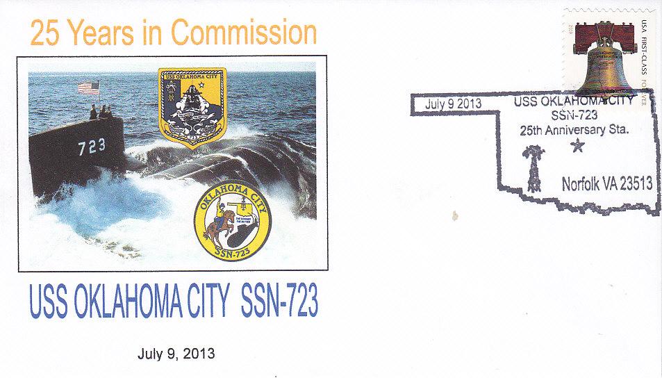 Beleg USS OKLAHOMA CITY SSN-723 25 Jahre im Dienst