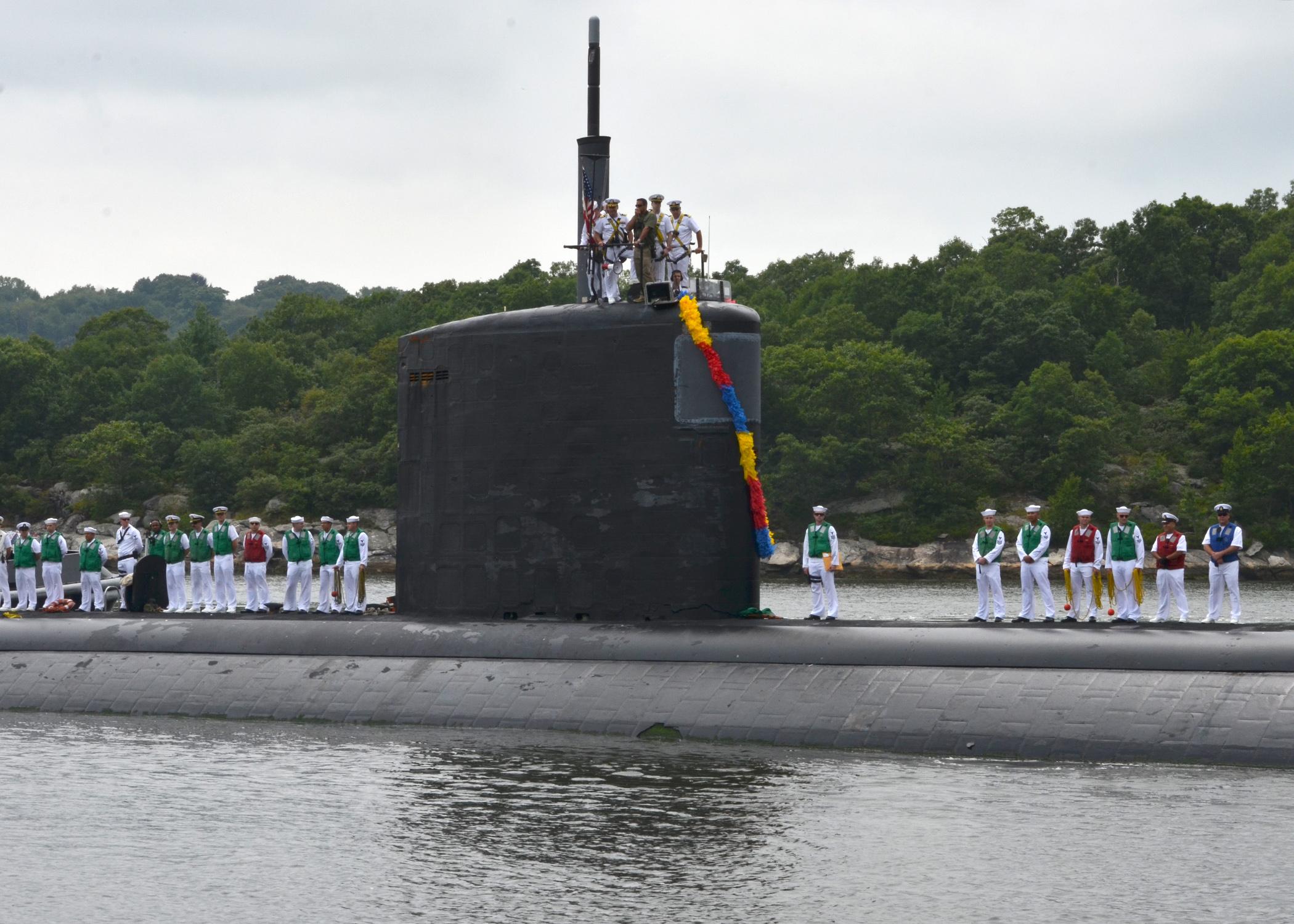 USS SPRINGFIELD SSN-761 Einlaufen Groton 22.07.2013Bild: U.S. Navy