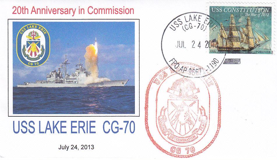 Beleg USS LAKE ERIE CG-70 20 Jahre im Dienst