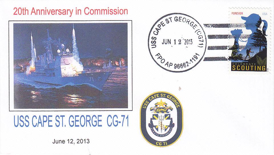 Beleg USS CAPE ST. GEORGE CG-71 20 Jahre im Dienst