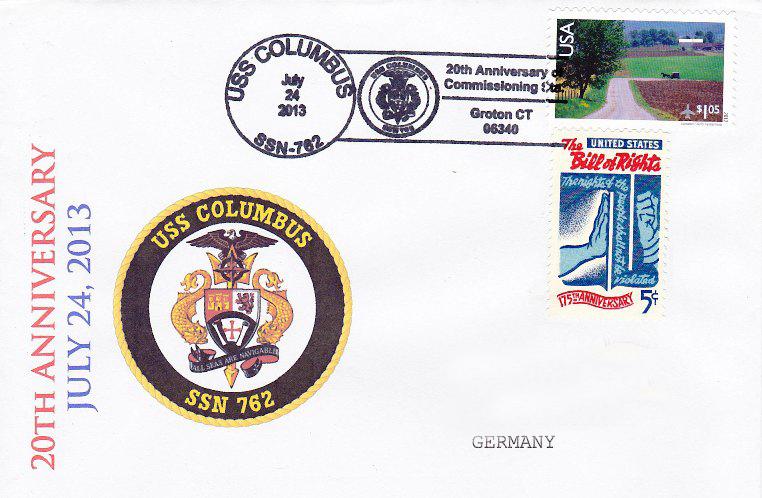 Beleg USS COLUMBUS SSN-762 20 Jahre im Dienstvon Daniel Gornig