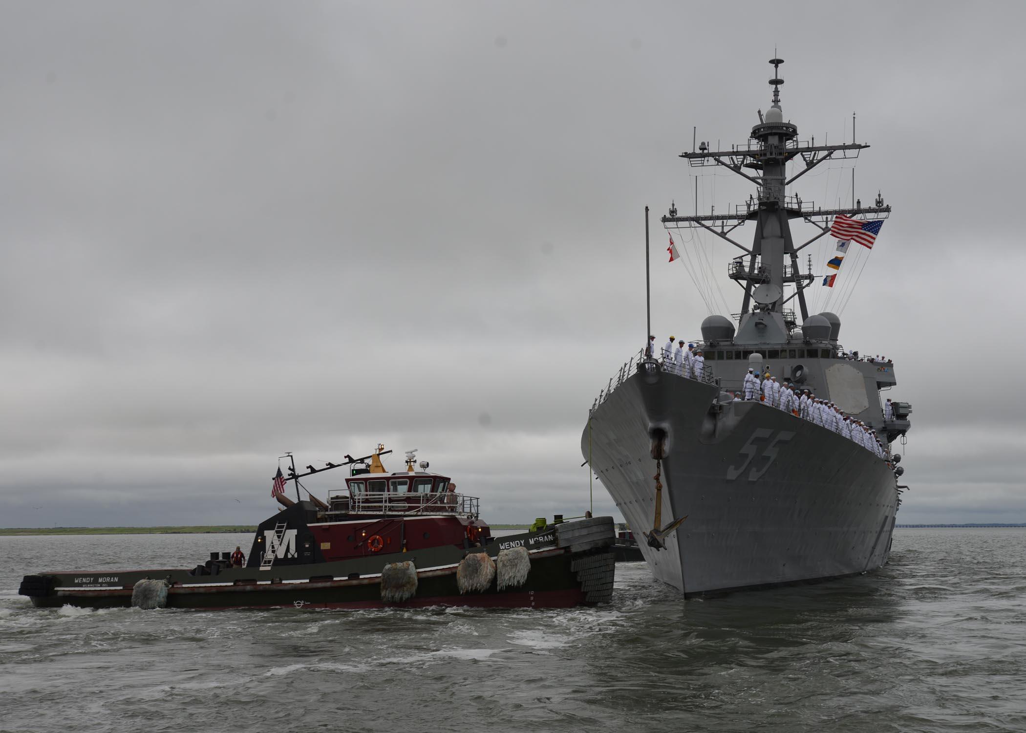 USS STOUT DDG-55 Auslaufen Norfolk 18.08.2013Bild: U.S. Navy