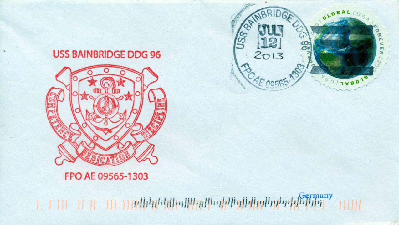 Beleg USS BAINBRIDGE DDG-96 vom 12.07.2013von Karl Friedrich Weyland